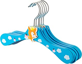 Harbour Housewares Wooden Children's Clothes Kids Coat Hangers - Fox - Pack of 10