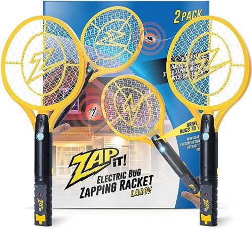 wholesale Zap It Bug Zapper Rechargeable Bug Zapper Racket with Blue online sale Light Attractant, 4,000 Volt, USB Charging Cable, 2 discount Pack outlet online sale