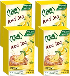 LEMON ICED TEA MIX by TRUE LEMON   Instant Powdered Drink Packets That Quench YOUR Thirst, Kit Includes 4 Boxes, 24ct of M...