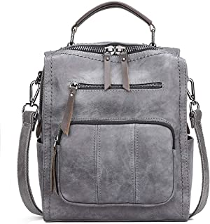 Women's Leather Fashion Backpack Purse Rucksack Waterproof Shoulder Bag School Casual Daypack for Ladies