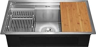 AKDY Handmade Undermount Workstation Ledge Kitchen Sink 33