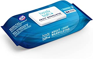 """Handybath Incontinence Adult Washcloths Scented for Senior Care or Outdoor Activities - Extra Large 12 x 9"""" Towels -Cleani..."""
