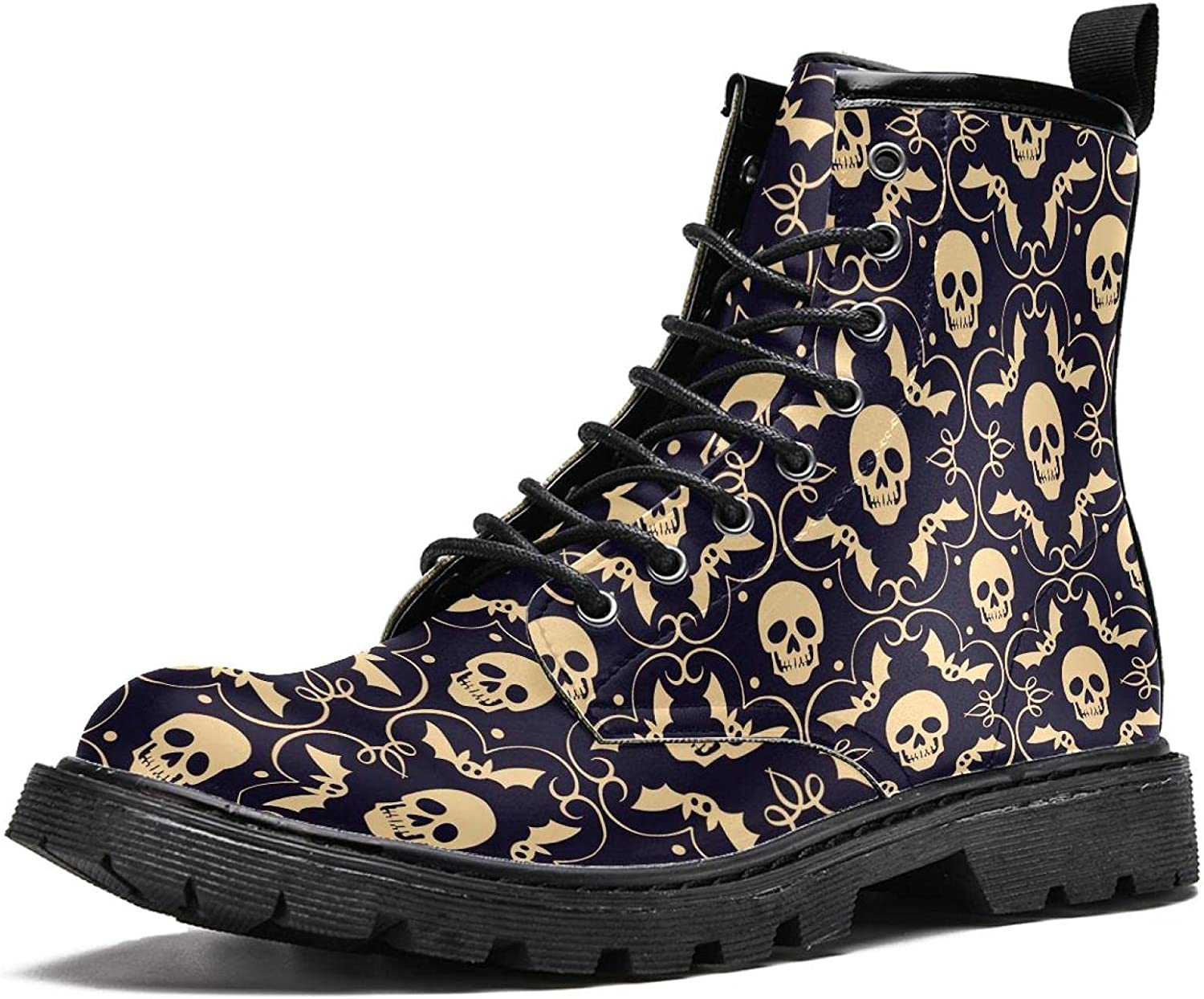 Men's Lace Fashion Boot Skull Halloween Vintage Ranking TOP2 Purchase