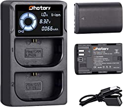 LP-E6 Battery Charger Set, 2 Pack Replace LP-E6 Batteries and LCD Dual Charger for Canon EOS R, EOS 60D, 70D, 80D, EOS 5D III, 5D IV, 5Ds, EOS 6D, 6D Mark II, EOS 7D, 7D Mark II, XC10, XC15 (1850mAh)