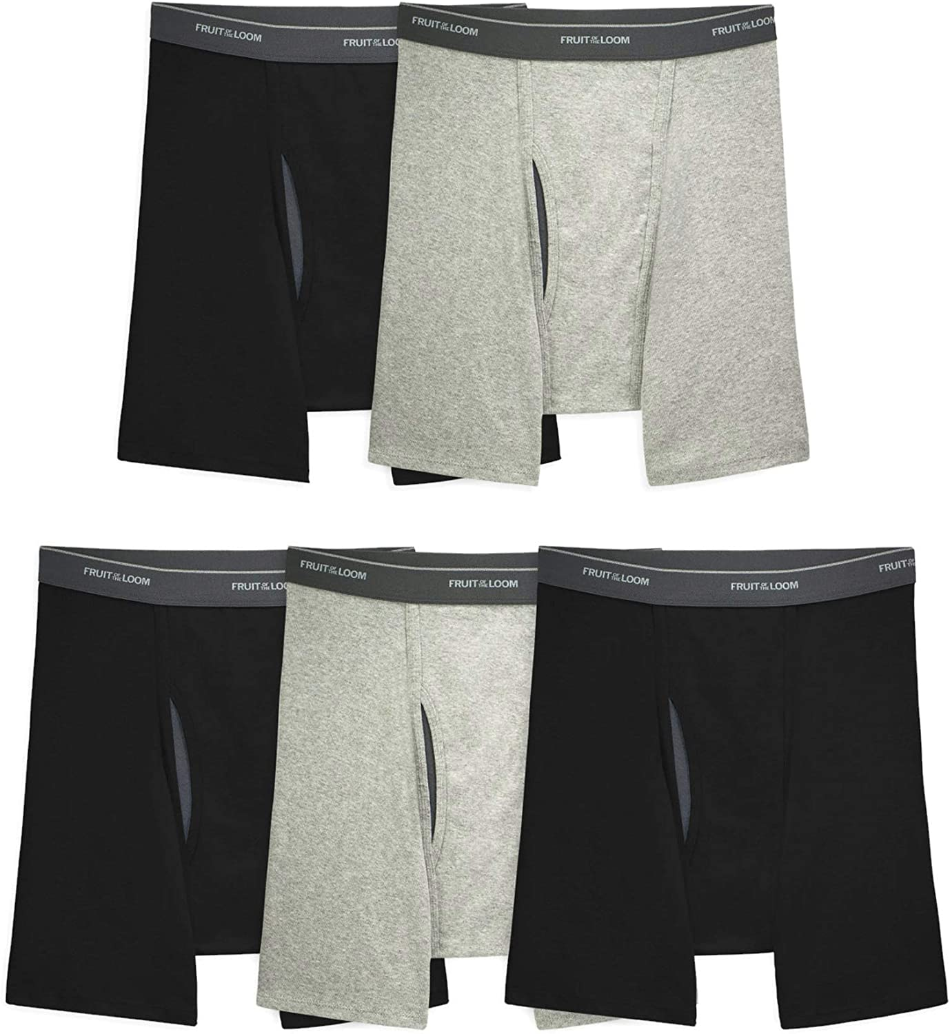 Fruit Of The Loom Mens Coolzone Boxer Brief 5 Pack