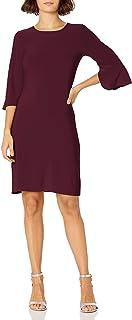 Star Vixen womens Bell Sleeve Keyhole Back Sheath Dress Dress