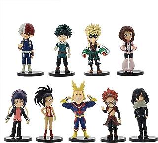 POP Anime: My Hero Academia Character Figures Toy, 9Pcs Anime Hero Figures My Hero Academia Mini Todoroki Shouto Bakugou Katsuki Izuku Midoriya Vinyl Figures All Might Action Figures 6.5-10.5cm