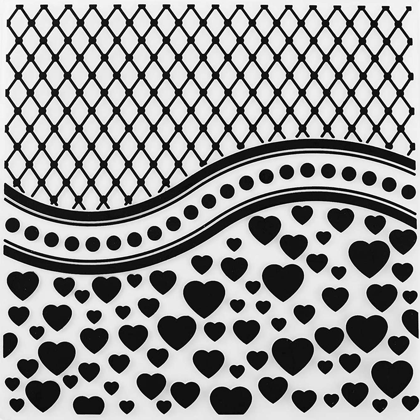 MaGuo Love Network Plastic Embossing Folder Template for Card Making Scrapbooking DIY Crafts