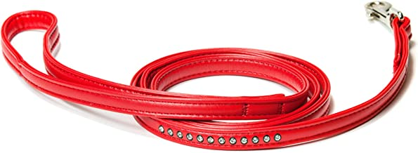 Doggy Things Bedazzled voeren, Small, rood