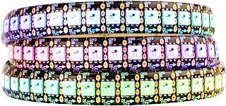 BTF-LIGHTING WS2815 (Upgraded WS2812B) 3.2ft 144 Pixels Individually Digital Addressable RGB Dual Signal LED Flexible Strip Light 5050 SMD IP65 Waterproof Magic Dream Color DC12V Black PCB