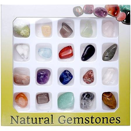 14 pound of gemstones tumbled polished in a black velvet draw string bag per lot