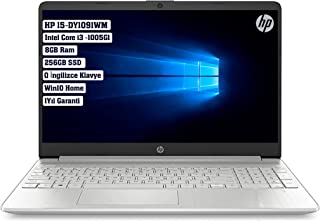 "Hp 15 Dy-1091wm Laptop, Core i3-1005G1 8gb RAM 256gb SSD 15.6"" windows 10 English Keyboard (Silver)"