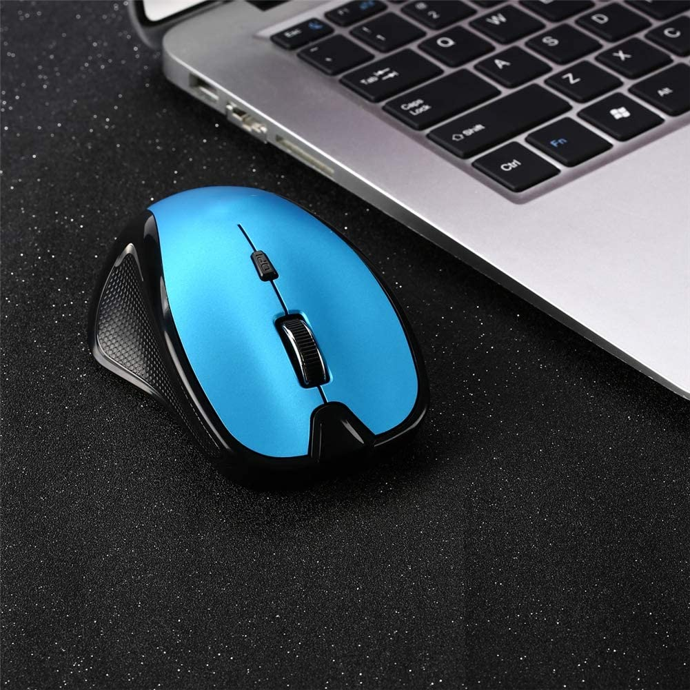 Wireless Mouse with USB Receiver Notebook QLPP 2.4GHz Wireless Optical Mouse Desktop,C 3 Adjustable DPI Level and 6 Buttons Laptop Compatible with PC