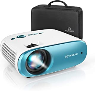 """VANKYO Cinemango 100 Mini Video Projector, 4000 Lux HD Movie Projector Support 1080P, 220"""" Display, 50,000 Hrs Lamp Life, Compatible with TV Stick, HDMIx2, USBx2, VGA, TF, AV for Home Entertainment"""