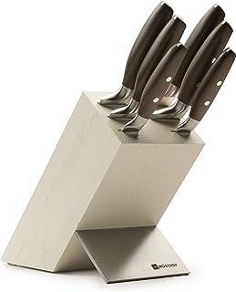 WÜSTHOF Messerblock 9856, Epicure Con soporte para cuchillos, Acero inoxidable, fibra natural