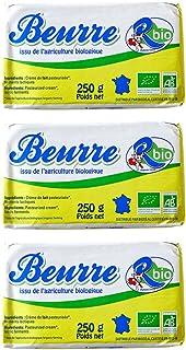 AB認証取得 R-Bio ビオバター【250g】 Beurre R-Bio 250g /無塩バター フレッシュオーガニックバター・グラスフェッド/フランス産/冷蔵空輸品 (3個)