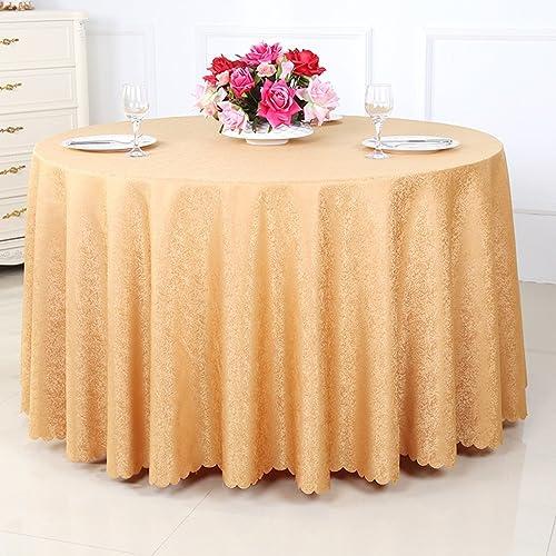 Unbekannt %Tablecloth Runde Tischdecke, Thicker Hotel Restaurant Restaurant Tischdecke Normal Couchtisch Tischdecke Tischdecke Tischdecke (Farbe   B, Größe   Round-320cm)