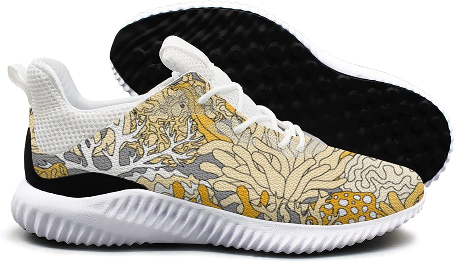 golden Coral Reef Crab Shark Leisure Running shoes Young Women Printing Funny Active