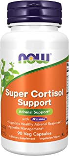 NOW Supplements, Super Cortisol Support (Combines Vitamin C, Pantothenic Acid, and Chromium Chelavite with Relora), 90 Veg...