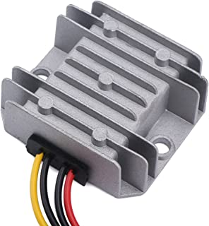 DROK 090607 DC-DC Step Down Voltage Converter, DROK Power Supply Buck Regulator 12V/24V/36V to 5V 3A Volt Reducer Transformer Module with USB