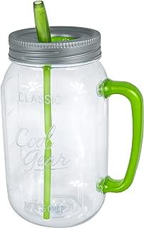 Cool Gear Handle Mason Jar Water Bottle, 63 oz, Green