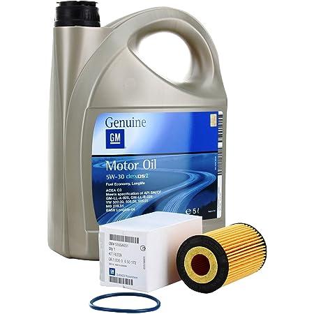 Opel Kit Aus Filter Und Motoröl Gm Opel Öl 5w 30 5 Liter Benzinmotoren Auto