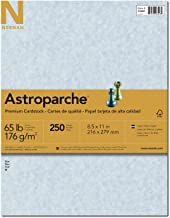 Wausau Astroparche 65# Fine Business Cover Paper, 250 Count, Blue, 8.5 X 11 Inches (26448)