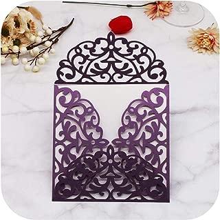 40Pcs/Lot New Design Wedding Invitations Cards Laser Cut Birthday Party Invitations Four Folded Invite Cards-dark silver-