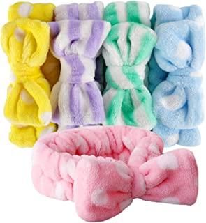 Bow HeadBands, Teenitor Women Headbands for Makeup Cosmetic Facial Shower Spa Elastic Hair Band Hairlace Headband for Baby...