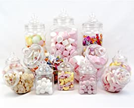 plastic apothecary jars for candy buffet
