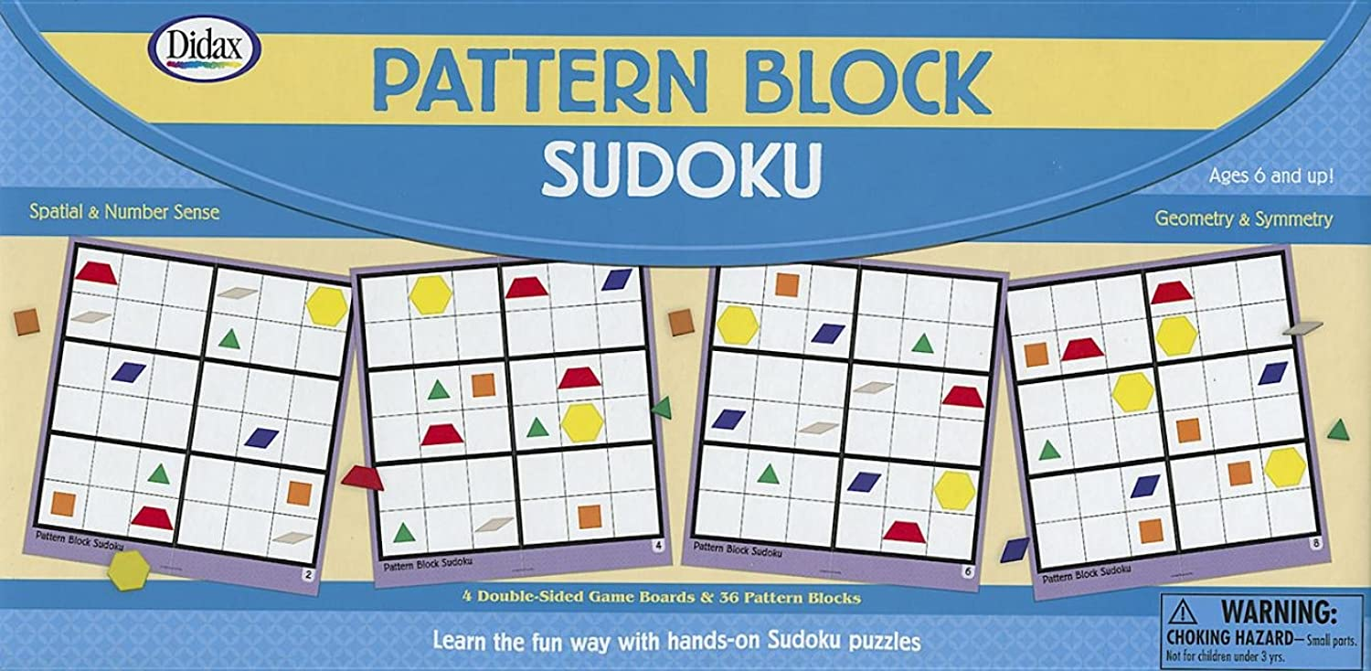 Pattern Block Sudoku [With 36 Pattern Blocks and 4 DoubleSided Game Boards]