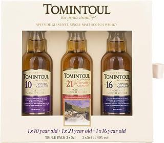 Tomintoul TRIPLE PACK 10 YO, 21 YO, 16 YO Whisky  x 0.15