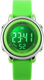 Kid Watch Multi Function 50M Waterproof Sport LED Alarm Stopwatch Digital Child Wristwatch for Boy Girl Green