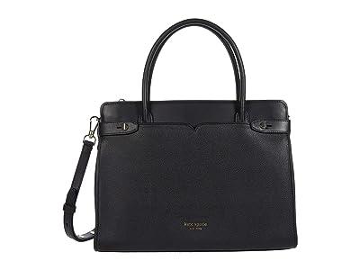 Kate Spade New York Clean Toujours Large Satchel (Black) Handbags
