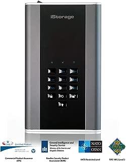iStorage diskAshur DT2 256-bit 2TB USB 3.1 secure encrypted desktop hard drive IS-DT2-256-2000-C-G