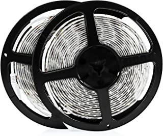 LEDMO Upgraded LED Strip Lights 2 Rolls 32.8Ft SMD5630 6000K Tape Lamp 300 Units 12V LED Lights Waterproof IP65 LED Rope Light for DIY Christmas Lights Home Decor Kitchen Bar Party Decorations
