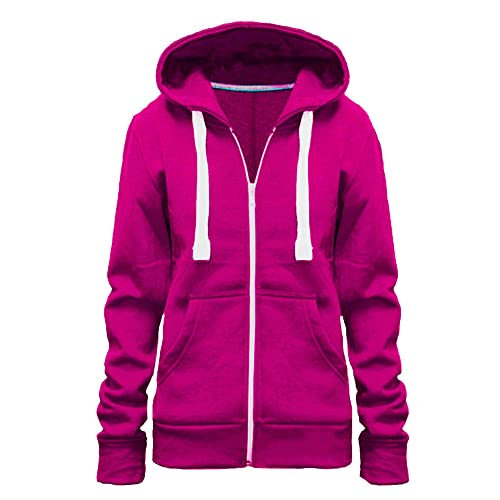 3456d7647fb Zip Up Sweatshirts for Women: Amazon.co.uk