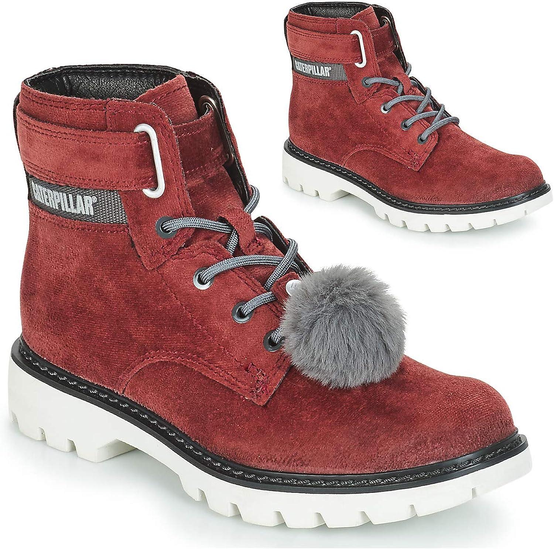 CAT Lifestyle Womens Conversion Velvet Ankle Boot Burgandy Size UK 8 EU 41
