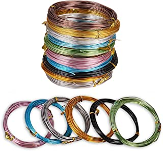 JEWELEADER 10 Colors 190 Feet Aluminum Wire 12 15 18 20 Gauge Bendable Metal Craft Wire Flexible Sculpting Beading Wire for DIY Wrapped Jewelry Manual Arts Making Rainbow Projects
