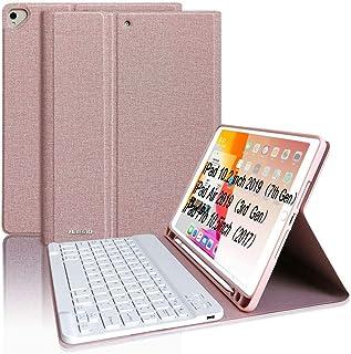 """Teclado para iPad 10.2 8th 2020/7th 2019, Funda Teclado para iPad Air 3 10.5 Teclado Inalámbrico para iPad Pro10.5"""" con Teclado Bluetooth Español ,Funda para iPad 8 Generación con Teclado Desmontable"""