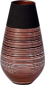 Villeroy & Boch Manufacture Swirl Vase Soliflor, 18 cm, Kristallglas, Schwarz/Bronze