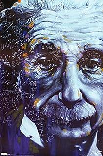 Buyartforless Albert Einstein - رسومات فنية 36x24 ملصق طباعة فنية من القرن العشرين Genius Pop Icon