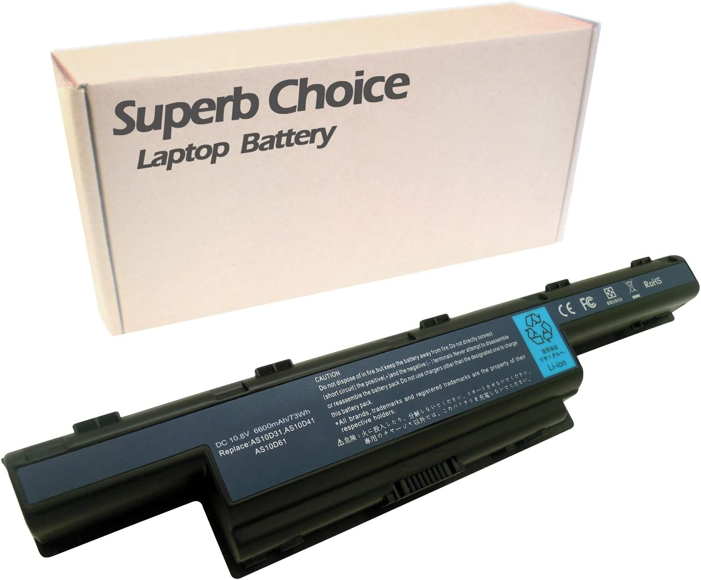 Superb Choice 9-Cell Battery Compatible with Acer Aspire 7741Z-4475 7741Z-4633 7741Z-4815