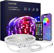 LED Bluetooth-tape, TASMOR USB LED-strip 10M / 32,8ft RGB, bestuurd door smartphone-app, zelfklevende synchronisatie met m...
