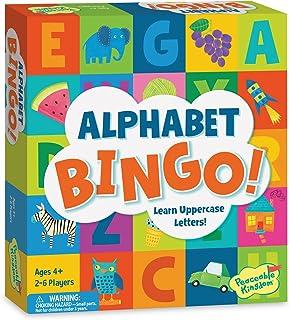 Peaceable Kingdom Alphabet Bingo! Letter Learning Board Game for Kids