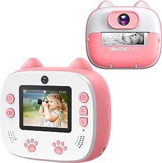 Appareil Photo Enfants à Impression, Dragon Touch Caméra Jouet Numérique avec Double Objectif,Papier d'impression, Autocol...