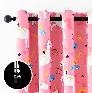 Sivio Blackout Curtains for Kids Bedroom, Grommet Top...