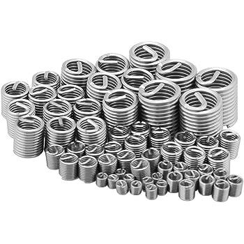 Gewindereparatur-Kit Spiraldraht-Schraubengewinde-Gewindeeins/ätze Satz M8 x 2D 50-teiliger Helicoil-Typ aus Edelstahl