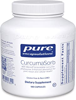 Pure Encapsulations - CurcumaSorb - with Meriva Bioavailable Curcumin Phytosome - 180 Capsules