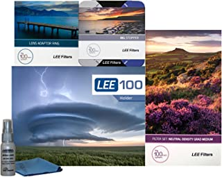 LEE Filters LEE100 77mm Scenic Starter Kit 1 - LEE Filters LEE100 Filter Holder, LEE 100mm Medium Edge Graduated ND Filter Set, LEE 100mm Big Stopper and 77mm Wide Angle Adapter Ring